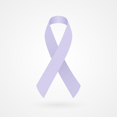 Lavender awareness ribbon  all kinds of cancer