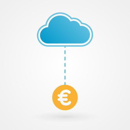 Cloud and euro Vector