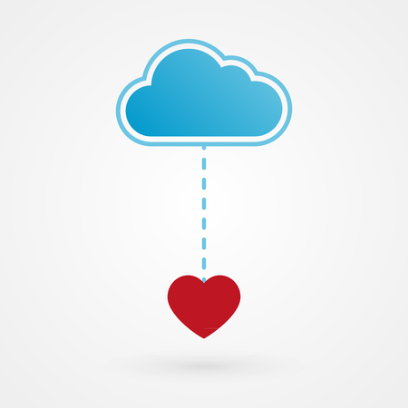 Cloud and heart Vector