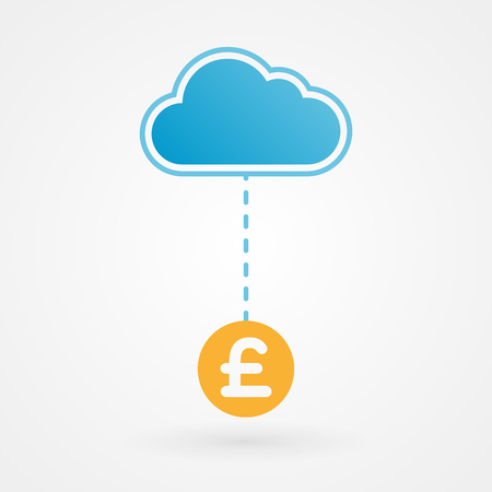 Cloud and pound Vector
