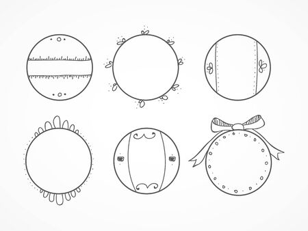 Hand drawn circles II Vector