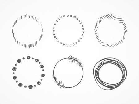 pencil drawn: Hand drawn circles I Illustration