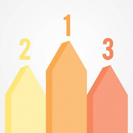 three dots: Infographic three options