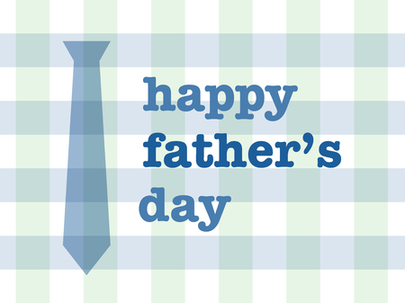 blue tie: Happy father Illustration