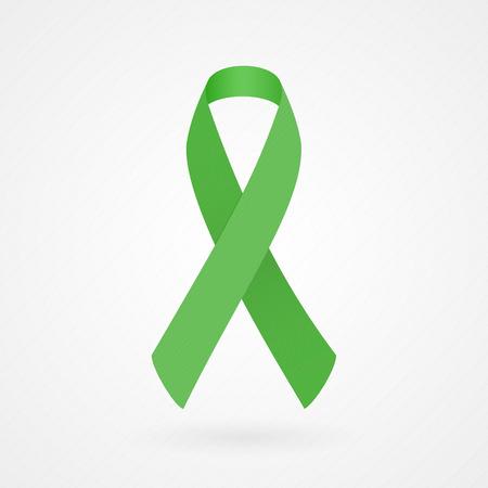 Grüne Bewusstseinsband Standard-Bild - 26543494