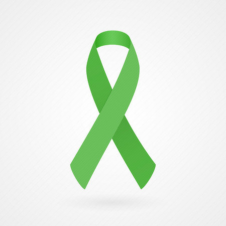 cure prevention: Green awareness ribbon