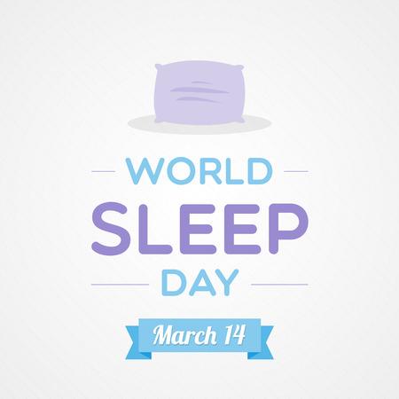 sleepiness: World Sleep Day Illustration