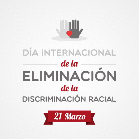 International Day for the Elimination of Racial Discrimination Vector