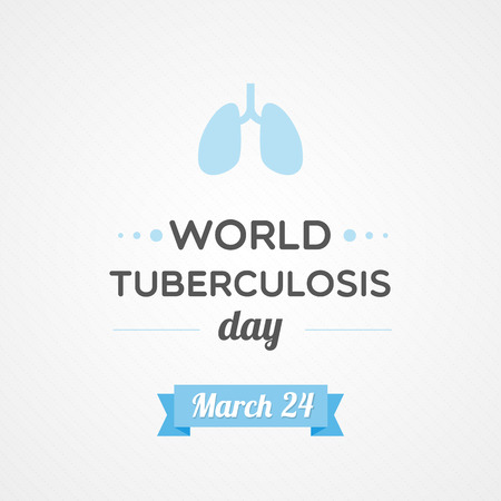 World Tuberculosis Day 向量圖像