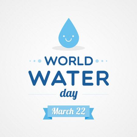 conservacion del agua: Día Mundial del Agua Vectores