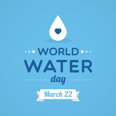 World Water Day Vettoriali