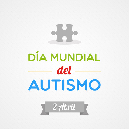 World Autism Day in Spanish Vector