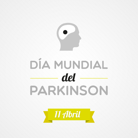World Parkinson Day in Spanish Vector