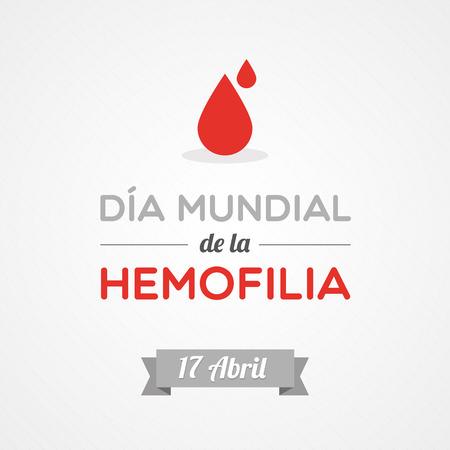 hemophilia: World Hemophilia Day in Spanish Illustration