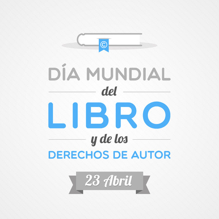 World Book and Copyright Day in Spanish Vector
