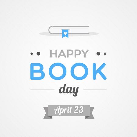 Happy Book Day Vector