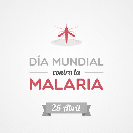World Malaria Day in Spanish Vector