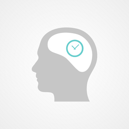 Head and clock Vector