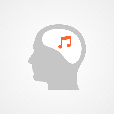 Head and music Vector