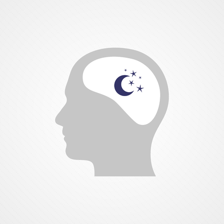 Head and night Vector