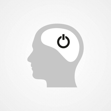 Head and onoff icon Vector