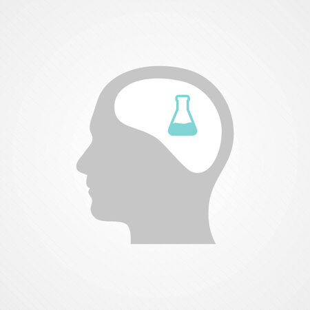 Head and test tube Vector