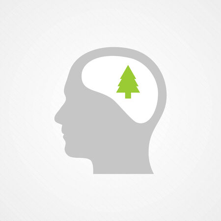 Head and tree Vector