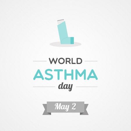 bronchial asthma: World Asthma Day Illustration