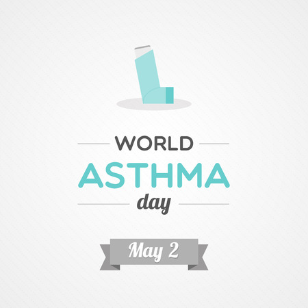 air awareness: World Asthma Day Illustration