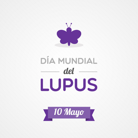 World Lupus Day in Spanish Vector