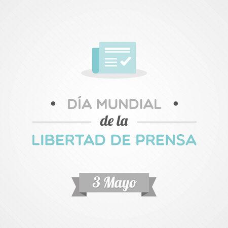 スペイン語で世界報道自由デー  イラスト・ベクター素材