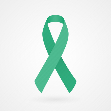 Jade awareness ribbon Vector