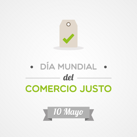 World Fair Trade Day in Spanish 矢量图像