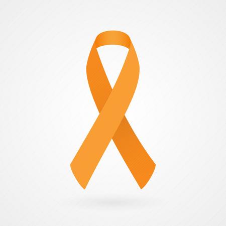 leucemia: Cinta anaranjada de la conciencia