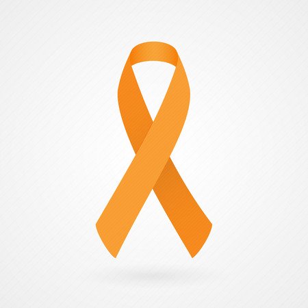 leukemia: Orange awareness ribbon Illustration