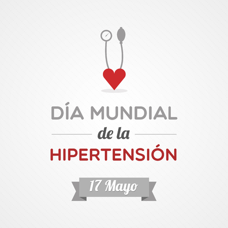 スペイン語の世界高血圧デー  イラスト・ベクター素材