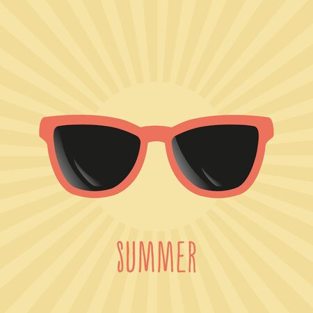 sunglasses reflection: Summer sunglasses Illustration