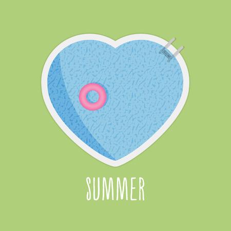 swimming pool: Pool heart in summer