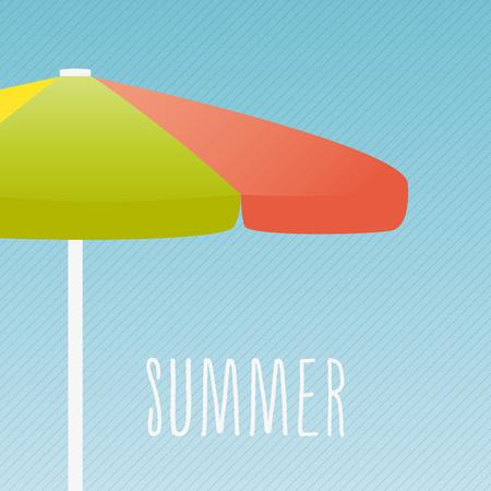 hot seat: Colorful parasol