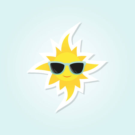 ultraviolet: Smiling sun with sunglasses