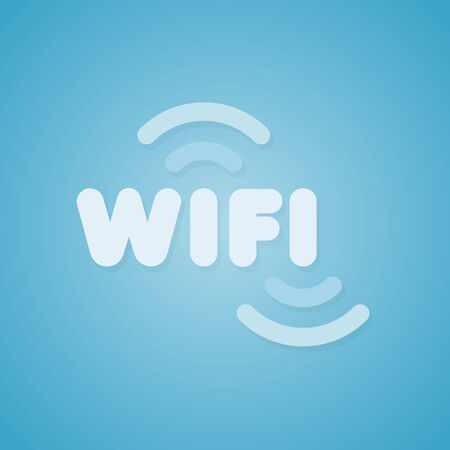 wifi sign: Blue wifi sign Illustration