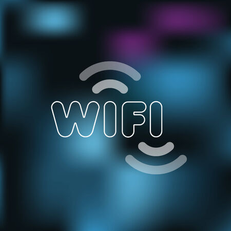 Wifi sign with blurred background Vector