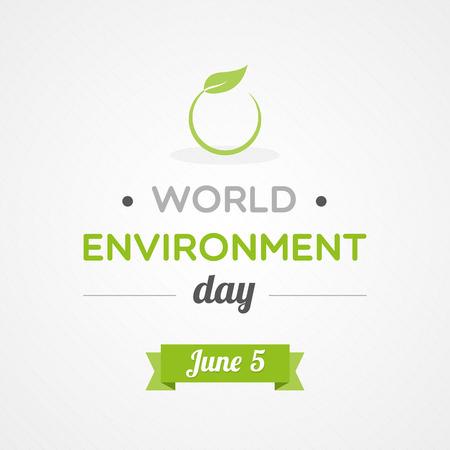 sostenibilidad: Día Mundial del Medio Ambiente Vectores