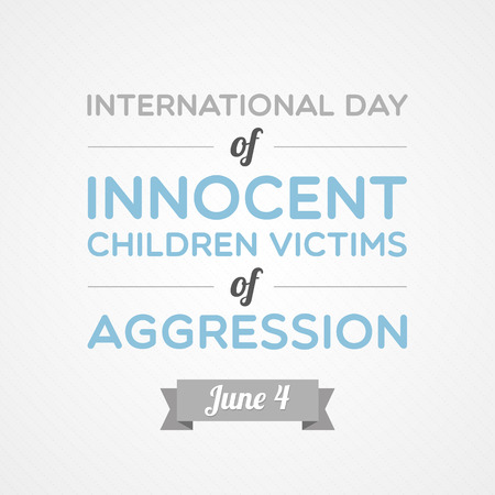 International Day of Innocent Children Victims of Aggression Ilustração