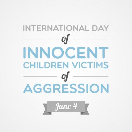 Journée internationale des enfants victimes innocentes de l'agression Banque d'images - 29001320