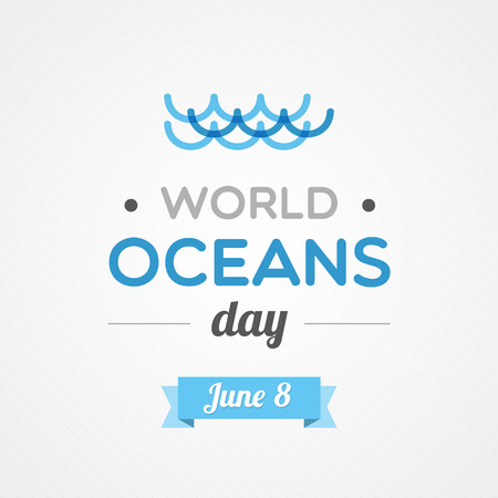 ocean waves: World Oceans Day Illustration
