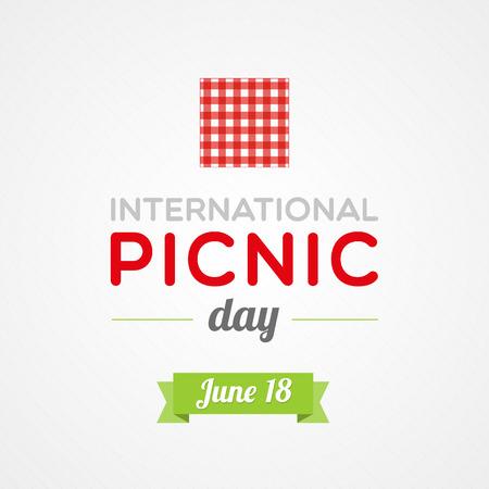 オープンエア: 国際ピクニックの日  イラスト・ベクター素材