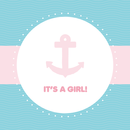 Baby shower  It s a girl Vector
