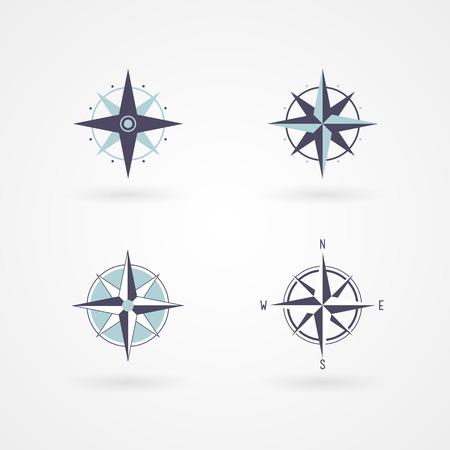 Réglez la rose des vents 04 concept illustration