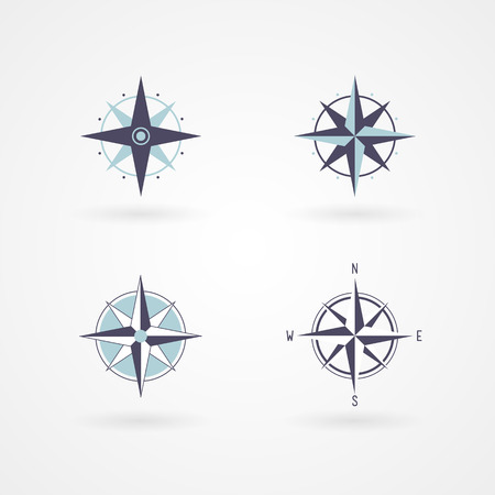 Set  wind rose 04 illustration concept